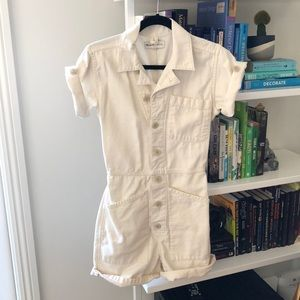 Madewell x As Ever short coverall in cloud lining